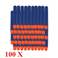 Wholesale 100 Blue Refill Darts Round Head for Nerf N strike Elite Series Blasters Toy Gun Soft Bullet