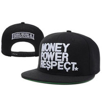 Wholesale Black Fashion Hats Money Power Respect Snapbacks Cool Hard Work Dedication Caps New Arrival Hip Hop Caps Boys and Girls Hats