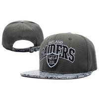 Wholesale Grey Raiders Snapback Hats Snakeskin Brim Football Caps Sports Team Snap Back Hats Cheap Strape Snapbacks Boys Girls Swag Hat