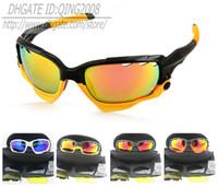 al por mayor gafas de sol enmarcadas amarillo-2014 Nuevo 1 pares marca el marco negro / amarillo que completa un ciclo las gafas de sol Nuevas mujeres al aire libre y las gafas de sol del deporte para hombre 16 colores