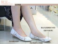 Wholesale Lace flat shoes elegant Vintage breathable light summer