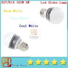 NEW Arrive Globe Lamp E27 E14 6W Led Lamp Lighting 85V-265V led ball lamp
