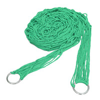 Cheap Promotion! 270x80cm New Portable High Quality Green Nylon Hammock Hanging Mesh Net Sleeping Bed Swing Outdoor Camping Travel