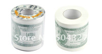 Cheap Free Shipping Wholesale 50Pieces Money Toilet Roll - Dollar Bill Toilet Paper Novelty Toilet Tissue