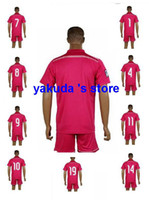 Wholesale Customized Madrid Pink Soccer Set Jerseys With Shorts Discount Cheaper Soccer Jerseys Soccer Uniforms Soccer Jersey Football Kits