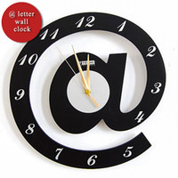 Cheap [funlife]-Free Ship @ Letter Mathematical Wall Clock Ornamental Personalized Stylish Quartz Silent Decorate For Office&Bedroom