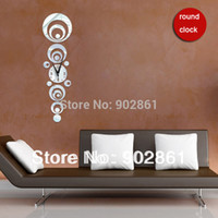 Cheap [funlife]-Free Shipping 25*90cm (9.8*35.5in) Novelty Design Silent Clock 16 Rings Combination DIY Mirror Wall Clock Sitting Room