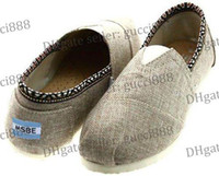 Wholesale New Folk style Women s Classic one for one linen burlap material Edge Cotton Soft soled casual flat canvas shoes shoe pairs