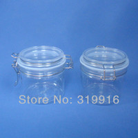 Wholesale 350G transparent PET cream bottle cosmetic container cosmetic cream jar Seal strong cans and plastic containers express shipping