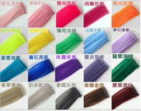 Wholesale 2014 Fashion New quot Straight Colored Colorful Clip On In Hair Extension Hair piece length cm