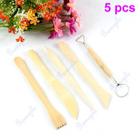 Cheap Hot Sell 3sets(15pcs) lot Double Side Pottery Clay Wax Modeling Sculpture Wood Carving Tools Free Shipping