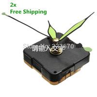 Cheap 5pcs lots Promotion High Quality Green & Black Luminous Hands DIY Quartz Clock Spindle Movement Mechanism Repair FREE SHIPPING