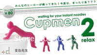 Cheap Free Shipping 10Pieces Cupmen 2 Relax Instant Noodle Figure Set Instant Ramen Readiness Indicator