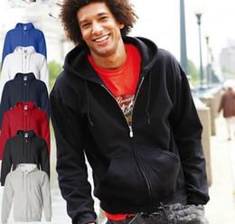Wholesale New Autumn men coat hoodie Leisure hooded cardigan fleece sweater sport sweater pure Joker costume Top color plus size