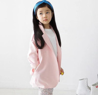 ouwear - High Quality Spring Autumn Children s Clothing Korean Cute Pink Colour Girl Long Trench Coat Big Kids Coat Jacket Child Ouwear
