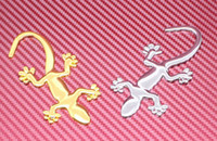 Wholesale Special value notebook stickers reflective stickers affixed to pure metal D stereo gecko