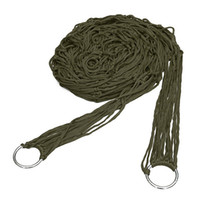 Cheap 2014 New Portable High Quality Army Green Nylon Hammock Hanging Mesh Net Sleeping Bed Swing Outdoor Camping Travel 270x80cm
