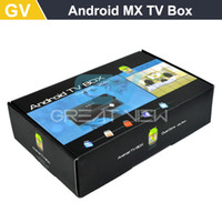 Cheap 1pc Free Post Shipping Android TV Box AML8726-MX Android Box with Dual Core DDR 1G Flash 8G MX HD 1080P XBMC Digital Receiver