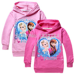 Wholesale OP Hottest Frozen Movie Elsa And Anna Girls Kid Printed Hoodies Clothing Tops Y Toddler Sweaters colors B6