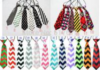 baby boy neckties - baby kid children ties neck tie ties Boys Girls tie silk print neckties Colors can t choose