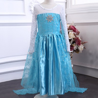 TuTu Winter Ball Gown Wholesale new Frozen elsa anna 2014 Children Christmas Baby Girl Princess long Sleeve party Birthday lace Tutu Sequins Dresses LY-600