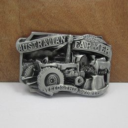 Wholesale BuckleHome Australian farmer belt buckle fashion belt buckle with pewter finish FP