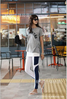 Wholesale Autumn Women Fashion Clothes Side Contrast Color Patchwork Leggings Made In China