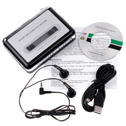 Wholesale Original EZCAP Portable USB Tape Cassette to MP3 Digital iPhone iPad PC Converter Capture Stereo Audio Music Player V345