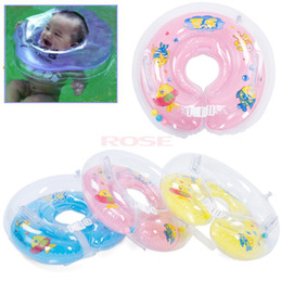 Wholesale New Plastic Baby Kids Infant Adjustable Swimming Neck Float Ring Safety Green Orange