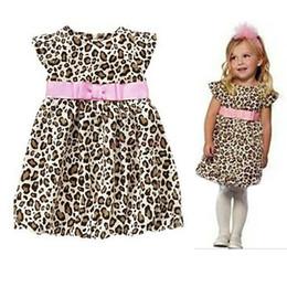 Wholesale 2014 Summer New Fashion Kids Baby Girls Dresses Princess Leopard Dress One Piece Dress