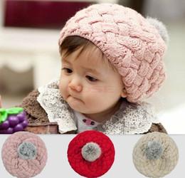 Wholesale New Autumn Winter Baby Hat Softer Wool Bonnet Style Kid Crochet Cap Lovely Infant s Headwear