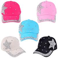 baseball cap shape - New Hot Hater Snapback Hats Baseball Caps Football Caps Adjustable Caps Children Cap Most Popular Rhinestone Star Shaped SV005443