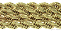 14k gold rope chain - Mens Long Solid K Yellow Gold Rope Link Chain Necklace quot mm