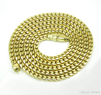 10k gold chain - K Yellow Gold SOLID Franco Box Snake Mens Chain Necklace