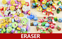Wholesale OP Many kinds of eraser for chosen kids mini kawaii cartoon rubber eraser for birds monsters university christmas