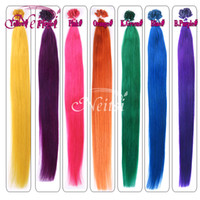 Wholesale Hot Sell Neitsi A Indian Virgin hair Weave Ombre Human Hair Extensions Nail U Tip Hair quot g Silky Straight Remy Bella Feather Hair