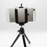 Wholesale Universal Mini Rotating Extendable Mini Tripod Stand Holder For Samsung Note Galaxy S5 iPhone S S HTC LG Cell Phone