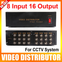 16* BNC video distributor - The CCTV Video Quad Input Output Video Distributor Video Signal Distributor with BNC AV Connector