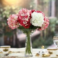 Wholesale cm Single High Artificial Hydrangea Four Colors Silk Flower Dried Flower Home Wedding Home Christmas Decorations