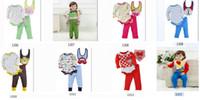 Cheap Wholesale - 3pcs Sets Girl's 's long Sleeve Baby Boys Clothes Outfits Baby Bodysuit Bibs Pants Suits Infant Romper Cotton-ZW832H