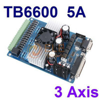 Cheap 3 Axis Stepper Driver Controller TB6600 Stepper Motor Driver Board 5A DC12-48V CNC Motor Driver Kit Free Shipping 1PC