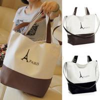 Wholesale Hot New Womens Fahion PARIS Eiffel Tower Print Canvas Handbag Shoulder bag colors SV000508 B003