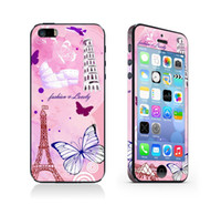 Wholesale Full Body Pure Colourful Stickers Screen Protector Skins For iphone G for iphone S Bling Crystal Full Body Film Guard GAO