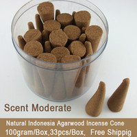 Wholesale Natural Indonesia Agarwood Oudh Incense Cone Eaglewood Gaharu Cone Incense Scent Moderate for Home aromatherapy SPA Yoga