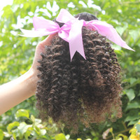 Wholesale Virgin Human Hair Weaves Afro Kinky Curly Virgin Peruvian Hair Pieces Unprocessed Hair Remy Hair Extensions