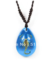Wholesale Scorpion Insect In Colorful Resin Lucite Necklace Pendant Jewelry mm Mix Order Novel Gift
