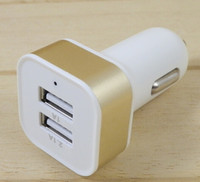 Cheap Colorful Dual USB 2 Port Car Charger 2.1A 1A Power Adapter for ipad iphone 4 5 5S Samsung S4 S5 HTC mobile car charger