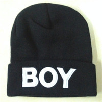 Top Quality BOY Beanies Acrylic Hats Winter Skull Caps Thous...