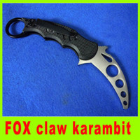 Cheap High quality FOX claw karambit EDC folding knife training knife G10 handle utility camping hiking survival knives Christmas gift 217H