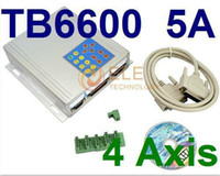 Wholesale Aluminum Box CNC Motor Driver Kit Axis Stepper Driver Controller TB6600 A DC12 V with Intelligent Handle Controller